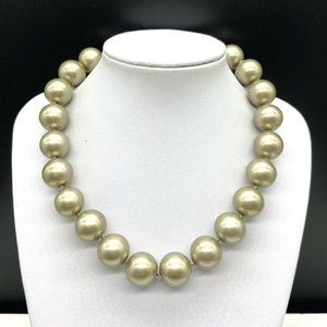 Vintage Carolee Faux Pearl Beaded Necklace